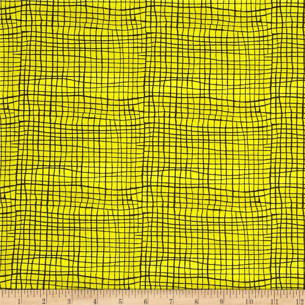 Abstract Check Yellow/Black