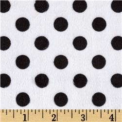 Minky Minnie Dots White/Black