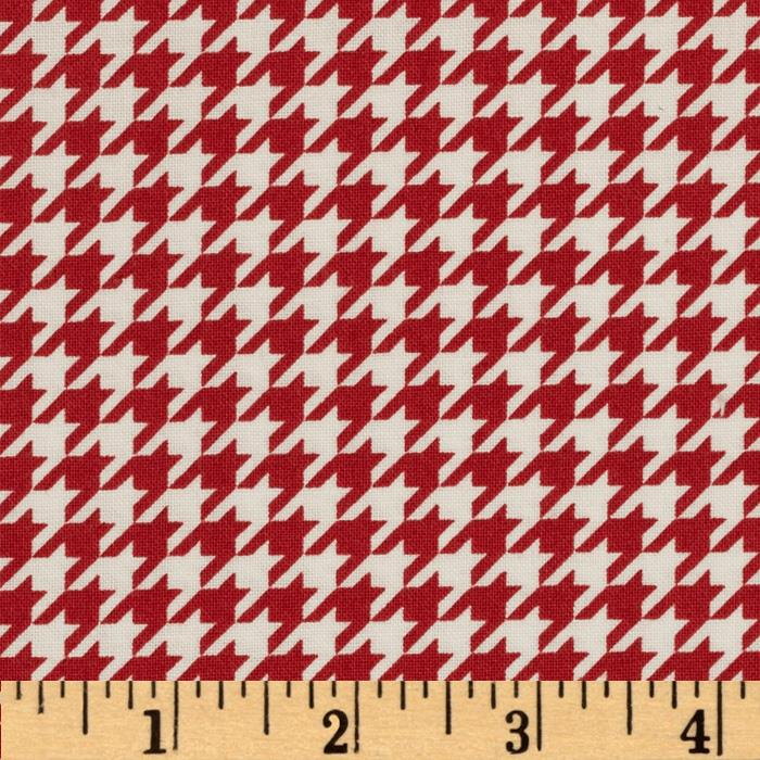 Kimberbell's Merry & Bright Houndstooth Red/White