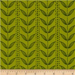 Reverie Garden Stripe Leaf Green