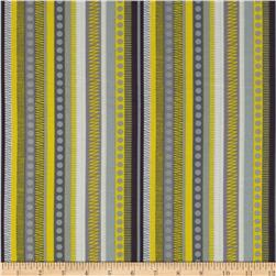 Zest Pearlescent Zippy Stripe Yellow Fabric