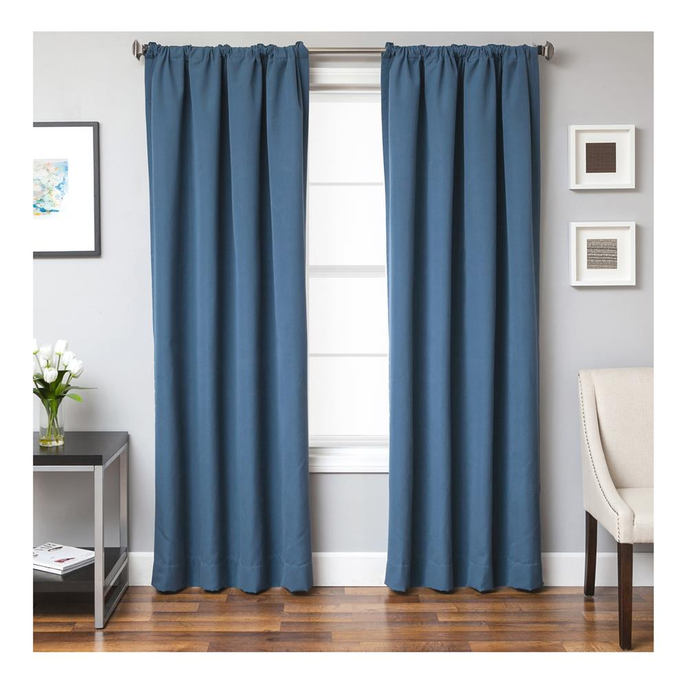 Sunbrella 84'' Solid Rod Pocket Curtain Panel Sapphire