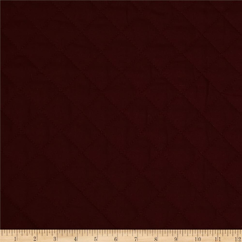 Double Sided Quilted Broadcloth Claret