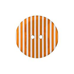 Dill Novelty Button 1-3/8'' Orange Stripe on White