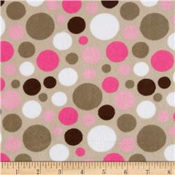 Minky Cuddle Classic Bubble Dot Fuchsia Fabric