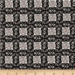 Valori Wells Ashton Road Geo Plaid Charcoal Fabric