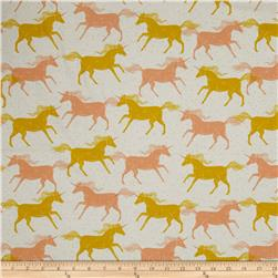 Cotton+Steel Magic Forest Unicorns Yellow