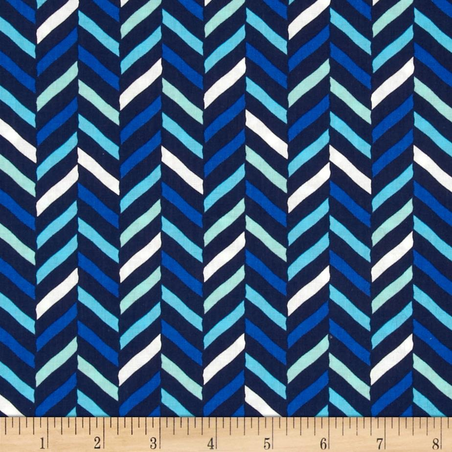 Singin' the Blues Herringbone Blue - Discount Designer ...