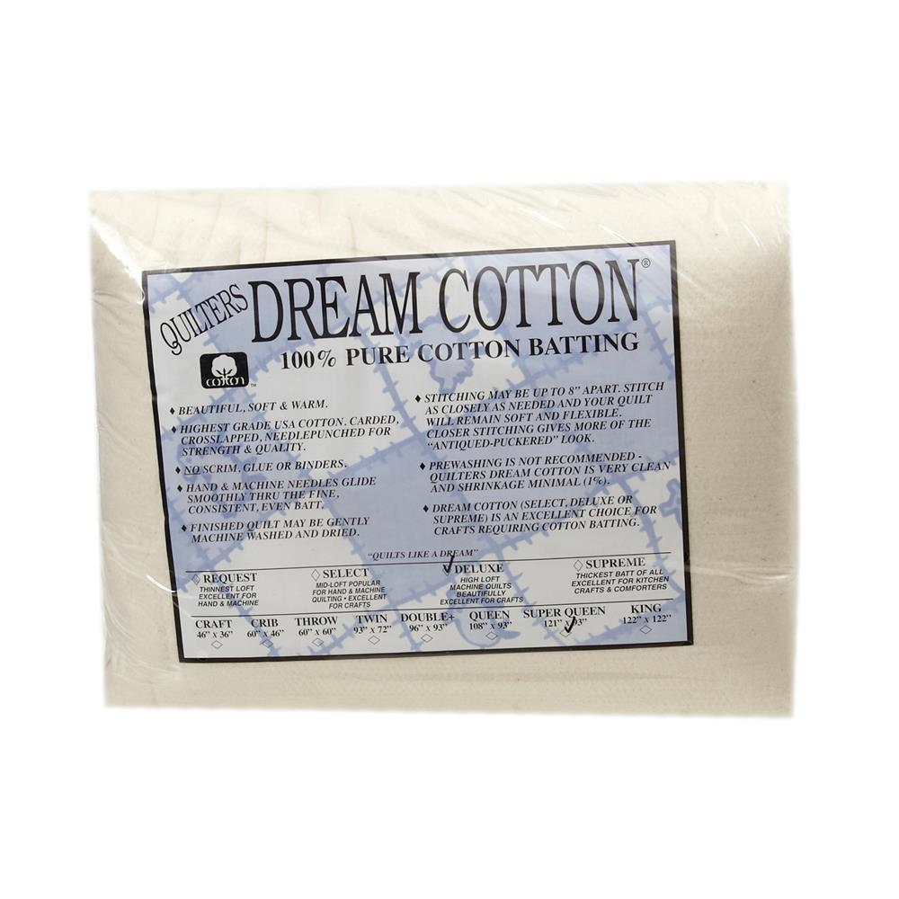 "Quilter's Dream Natural Cotton Deluxe Batting (121"" x 93"") Super Queen"