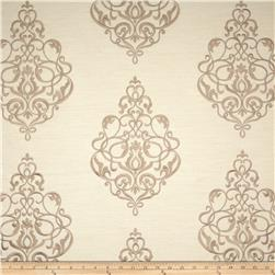 Jennifer Adams Home Embroidered Buckingham Natural Fabric