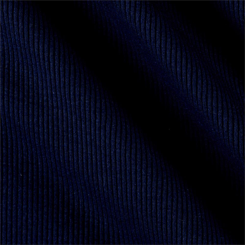 Rib 2x1 Knit Solid Navy Blue