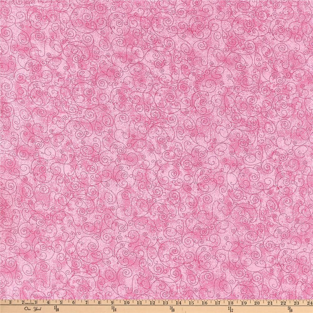 "110"" Wide Flannel Quilt Backing Willow Pink"