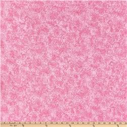 110'' Wide Flannel Quilt Backing Willow Pink