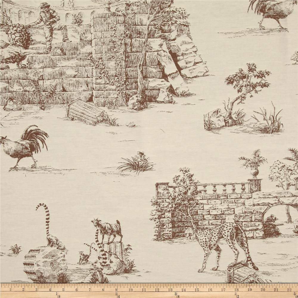 Robert Allen Promo Farmers Domain Toile Jacquard Chocolate