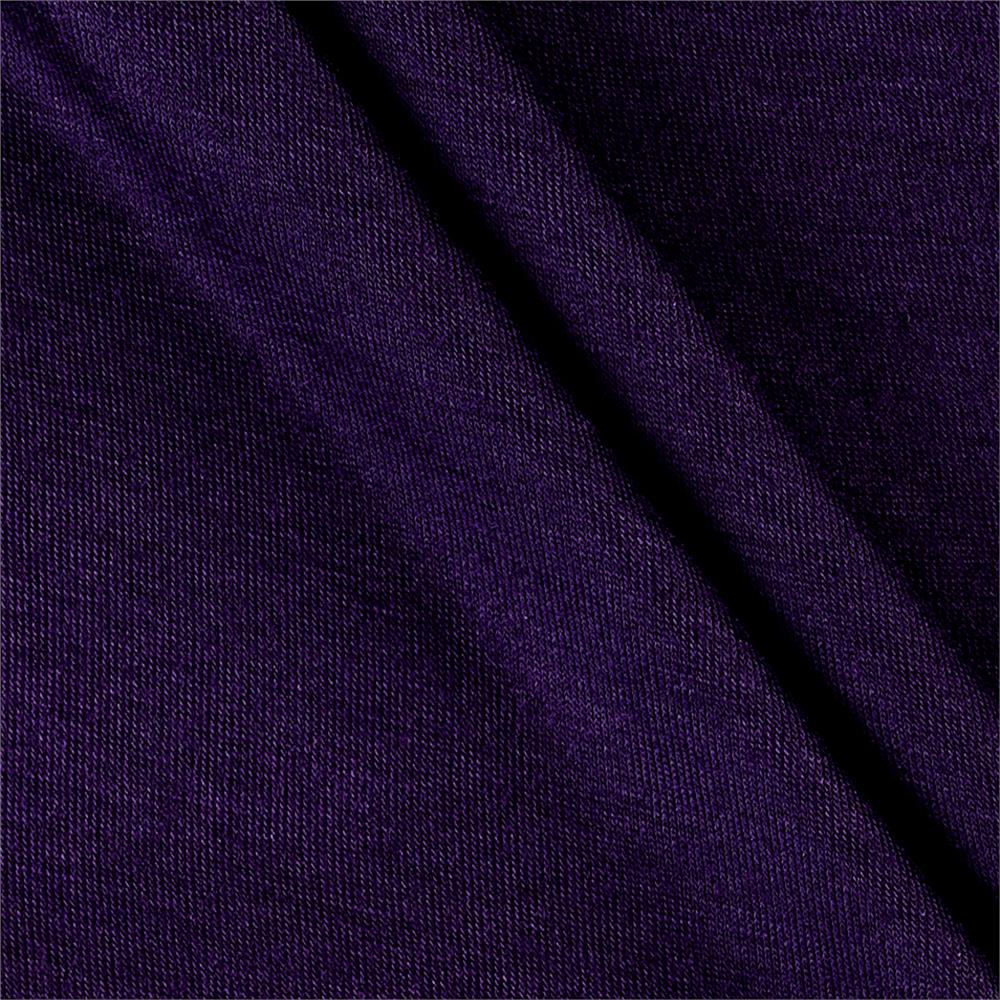 Rayon Spandex Jersey Knit Solid Plum Fabric By The Yard
