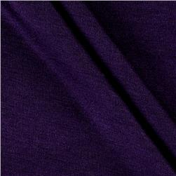 Rayon Spandex Jersey Knit Solid Plum