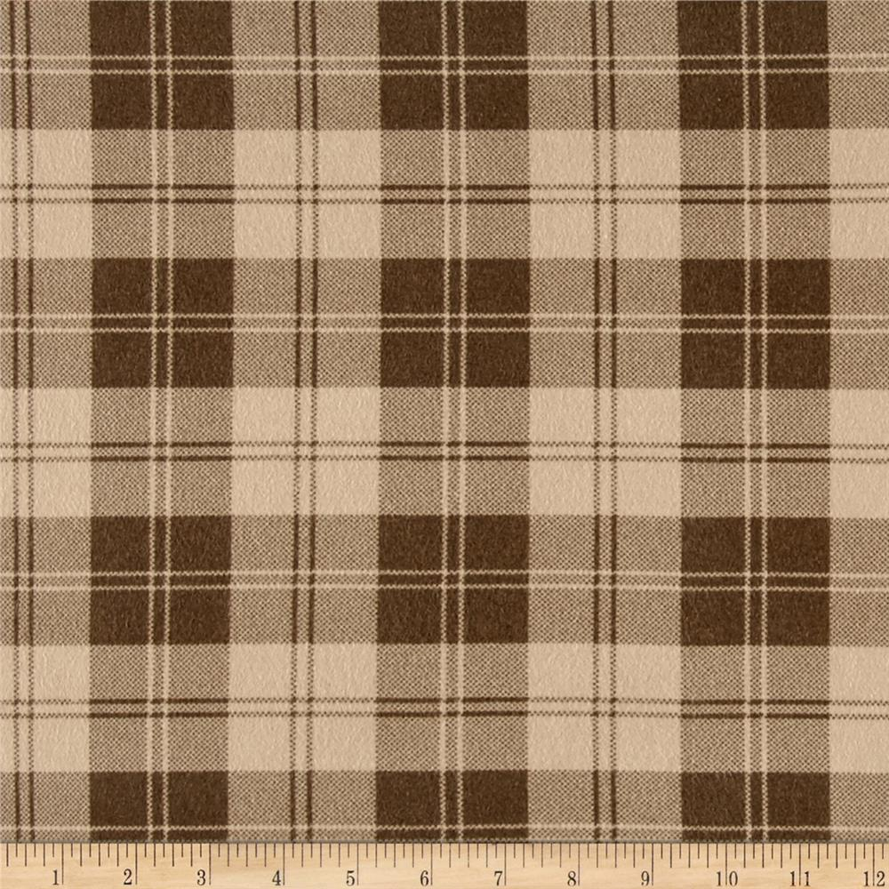 Box Plaid Flannel Tan