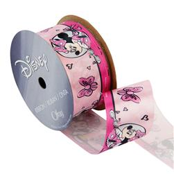 "1 1/2"" Minnie Mouse Ribbon Circles & Bows Pink"