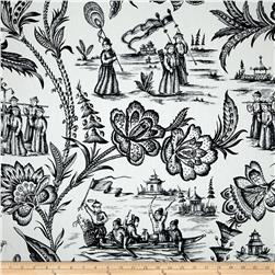 Duralee Imperial Journey Toile Black/White
