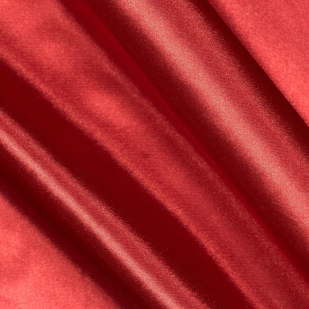 Charmeuse Satin Fire Engine Red