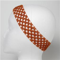 1 3/4'' Stretch Crochet Headband Burnt Orange
