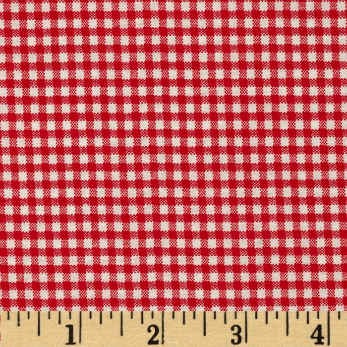 Basic Training Small Gingham Red/White
