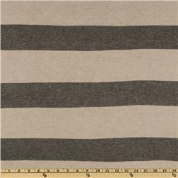 Designer Cozy Sweater Knit Stripes Sand/Grey