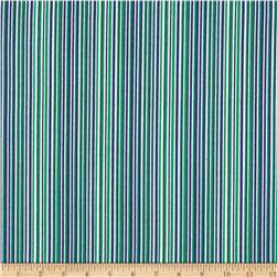Aunt Polly's Flannel Stripe Navy/Green/White