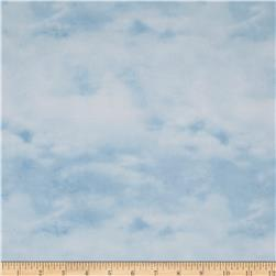 Winter Stillness Flannel Winter Sky Light Blue