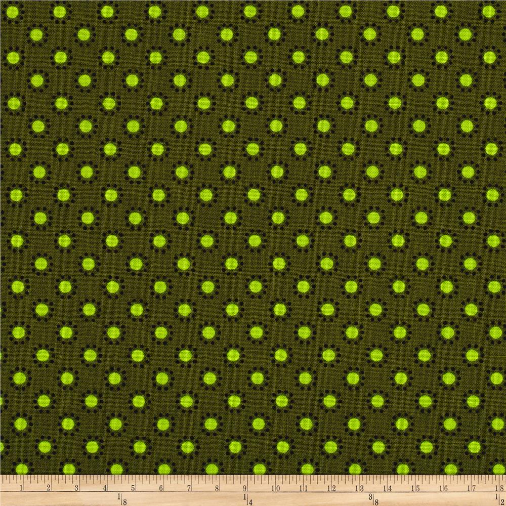 Woodland Friends Dots Green/Lime