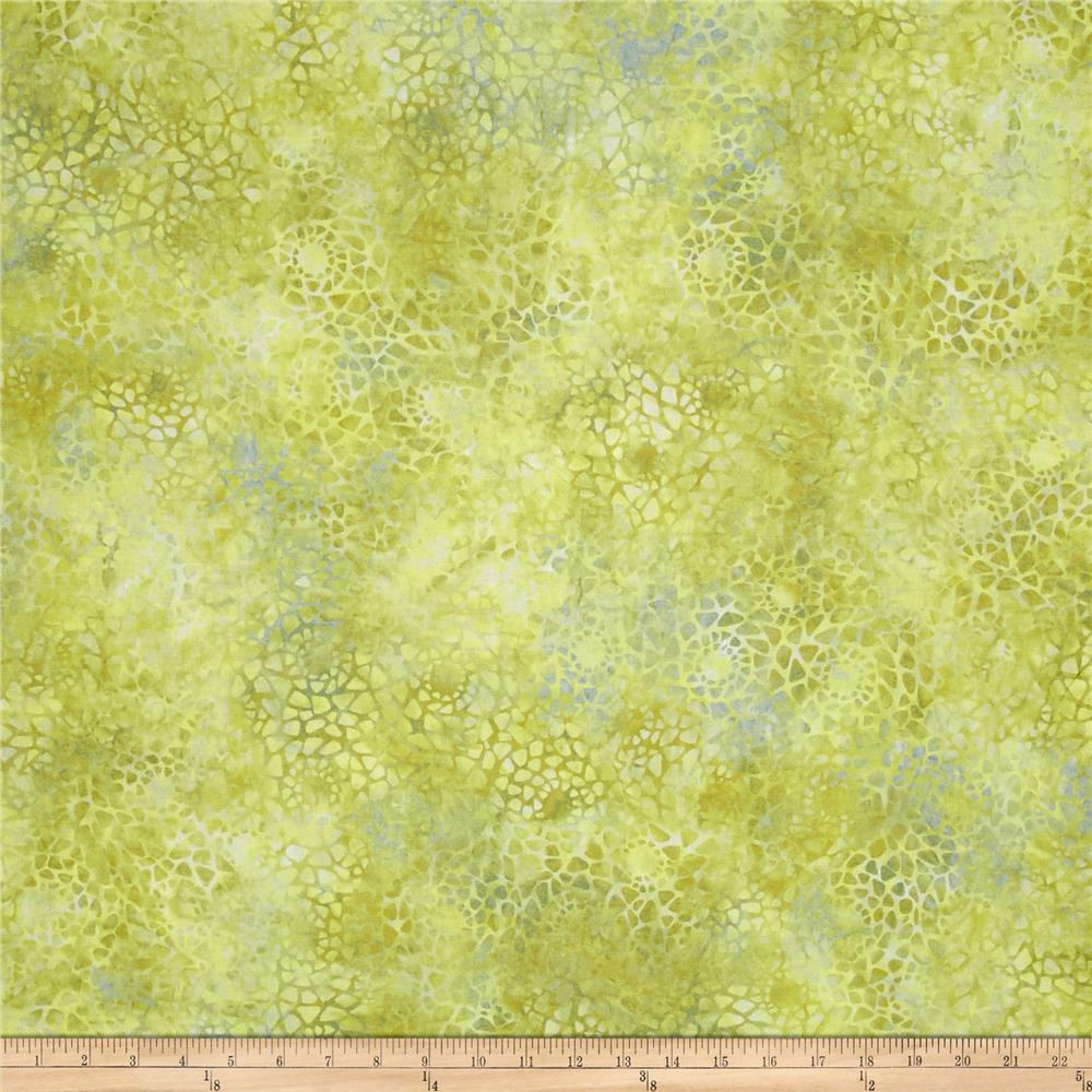 "Essentials 108"" Wide Back Mosaic Olive Green"