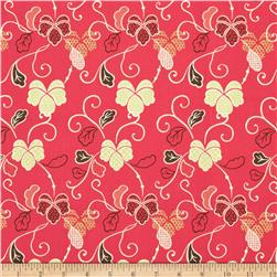 Fabric Freedom Blossom Floral Red