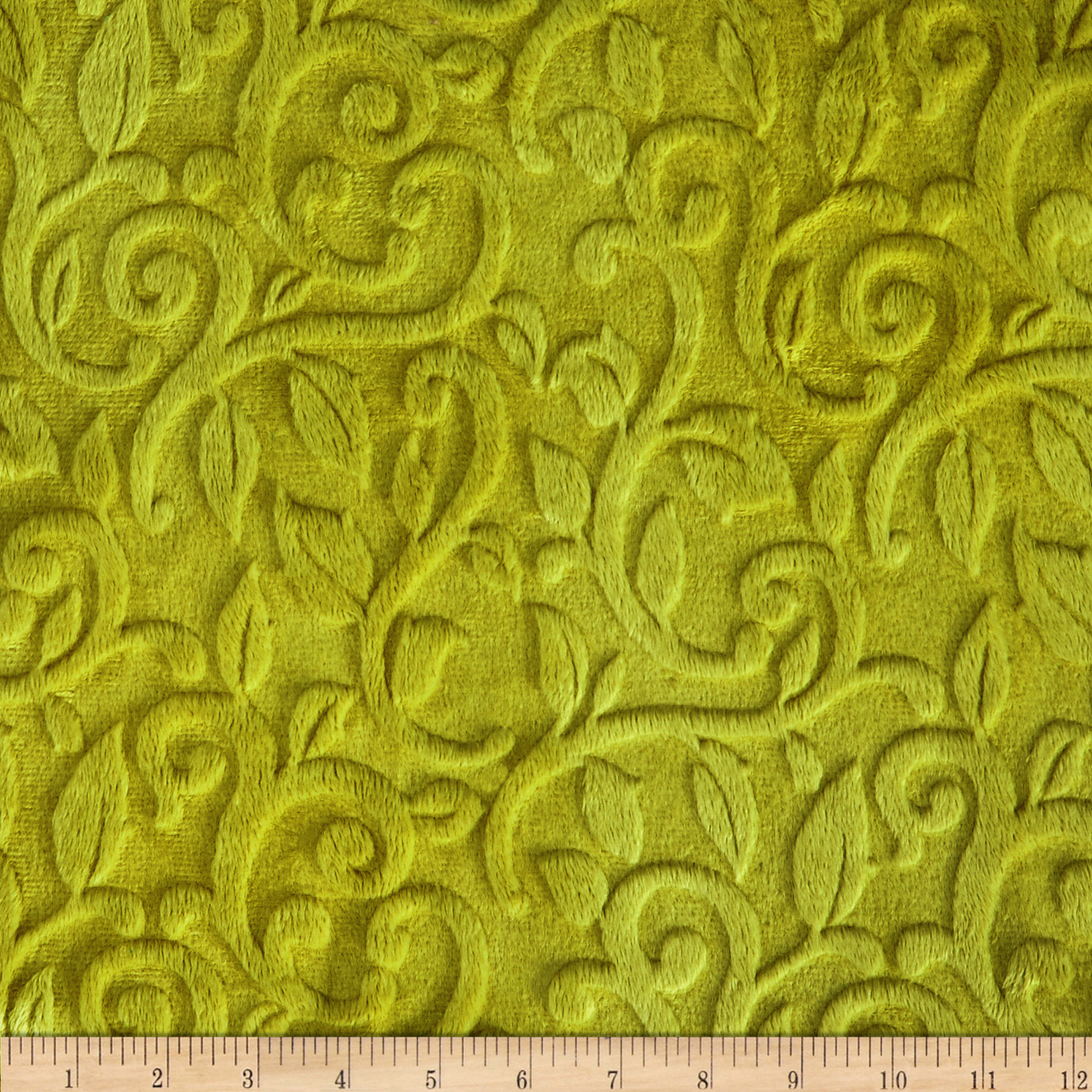 Minky Vine Cuddle Olivia Green Fabric