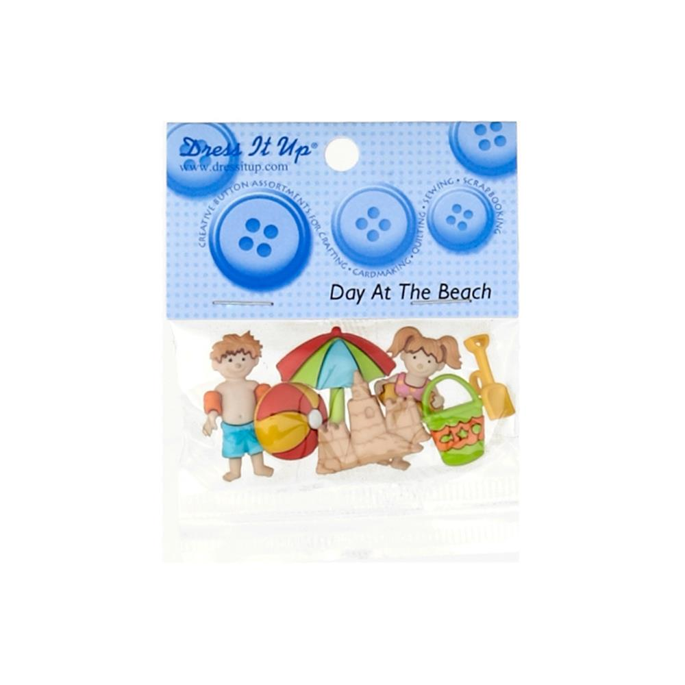 Dress It Up Embellishment Buttons Day At The Beach