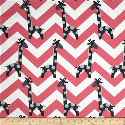 RCA Giraffe Chevron Blackout Drapery Fabric Black