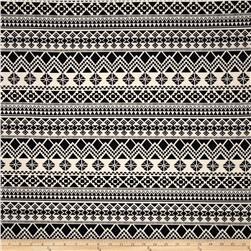 Poly Rayon Ponte Roma Knit Aztec Black/Cream