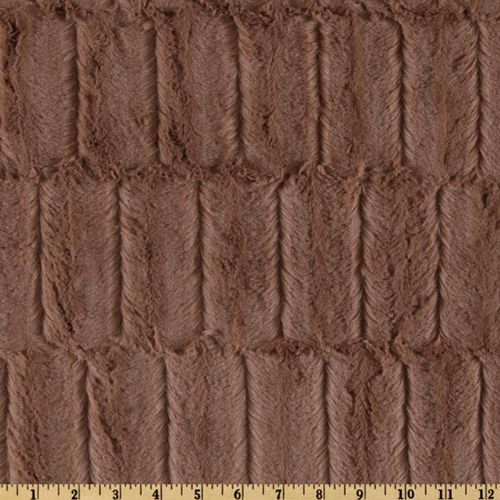Minky Embossed Groovy Cuddle Cappuccino