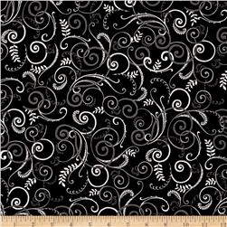 Black, White & Currant 6 Swirl Black