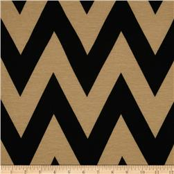 Fashionista Jersey Knit Medium Chevron Tan/Black