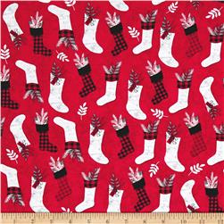 Holiday Homecoming Stocking Allover Red