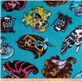 Monster High Fabolous Poses Fleece Lagoon Blue