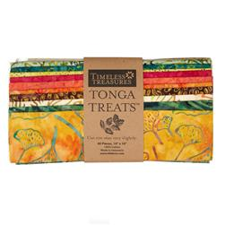 "Tonga Batik Punch Treat 10"" Squares Assortment"