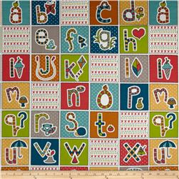 Birch Organic Picnic Whimsy ABC Patchwork Multi