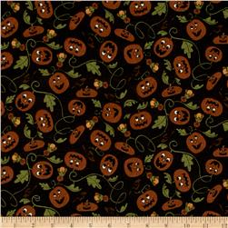 Pumpkin Party Flannel Pumpkin Patch Black Brown