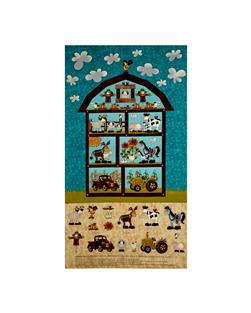 "McAnderson's Farm Barn 24"" Panel Teal"