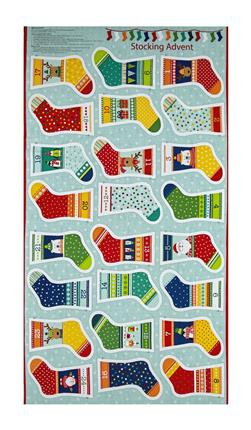 "Novelty Christmas Mini Stocking 23.5"" Panel Bright"