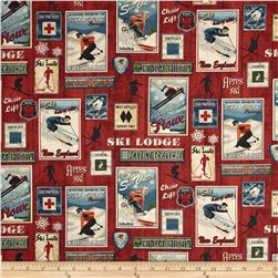 Ski Country Label Red