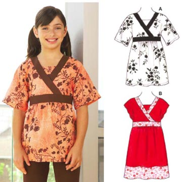 Kwik Sew Girl's Tunic and Dress Pattern