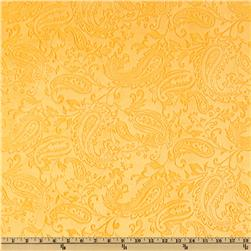 Minky Paisley Cuddle Embossed Mango Fabric