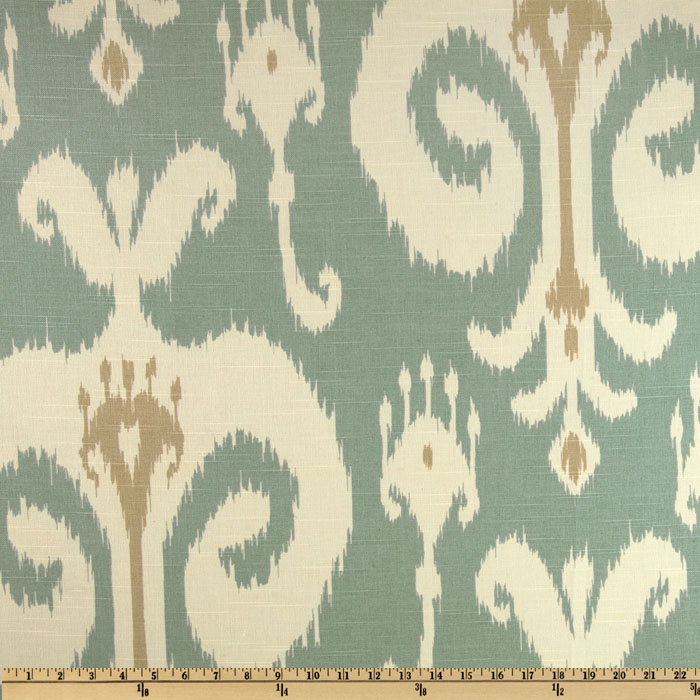 Home Accents Himalaya Ikat Robin Egg Blue Fabric